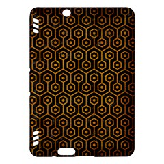Hexagon1 Black Marble & Yellow Grunge (r) Kindle Fire Hdx Hardshell Case