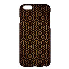 Hexagon1 Black Marble & Yellow Grunge (r) Apple Iphone 6 Plus/6s Plus Hardshell Case