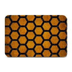 Hexagon2 Black Marble & Yellow Grunge Plate Mats
