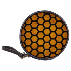 Hexagon2 Black Marble & Yellow Grunge Classic 20 Cd Wallets
