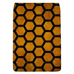 Hexagon2 Black Marble & Yellow Grunge Flap Covers (s)