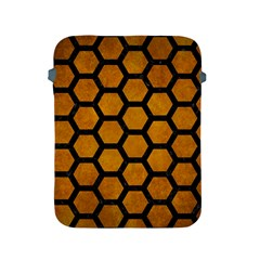 Hexagon2 Black Marble & Yellow Grunge Apple Ipad 2/3/4 Protective Soft Cases