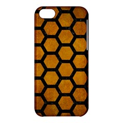 Hexagon2 Black Marble & Yellow Grunge Apple Iphone 5c Hardshell Case