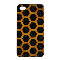 Hexagon2 Black Marble & Yellow Grunge (r) Apple Iphone 4/4s Seamless Case (black)