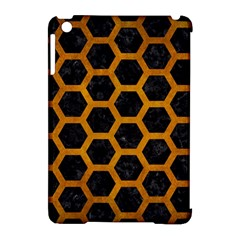 Hexagon2 Black Marble & Yellow Grunge (r) Apple Ipad Mini Hardshell Case (compatible With Smart Cover)