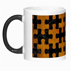 Puzzle1 Black Marble & Yellow Grunge Morph Mugs