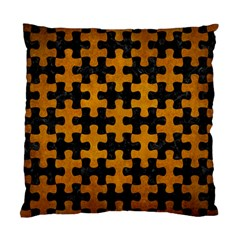 Puzzle1 Black Marble & Yellow Grunge Standard Cushion Case (one Side)