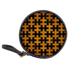 Puzzle1 Black Marble & Yellow Grunge Classic 20 Cd Wallets