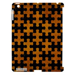 Puzzle1 Black Marble & Yellow Grunge Apple Ipad 3/4 Hardshell Case (compatible With Smart Cover)
