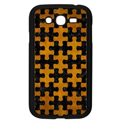 Puzzle1 Black Marble & Yellow Grunge Samsung Galaxy Grand Duos I9082 Case (black)