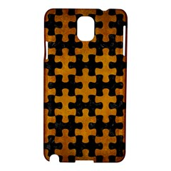 Puzzle1 Black Marble & Yellow Grunge Samsung Galaxy Note 3 N9005 Hardshell Case