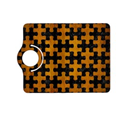 Puzzle1 Black Marble & Yellow Grunge Kindle Fire Hd (2013) Flip 360 Case