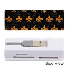 Royal1 Black Marble & Yellow Grunge Memory Card Reader (stick)
