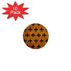 Royal1 Black Marble & Yellow Grunge (r) 1  Mini Magnet (10 Pack)