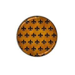 Royal1 Black Marble & Yellow Grunge (r) Hat Clip Ball Marker (4 Pack)