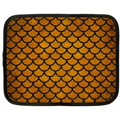 Scales1 Black Marble & Yellow Grunge Netbook Case (xl)
