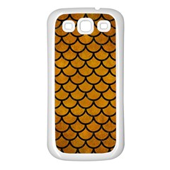 Scales1 Black Marble & Yellow Grunge Samsung Galaxy S3 Back Case (white)