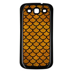 Scales1 Black Marble & Yellow Grunge Samsung Galaxy S3 Back Case (black)
