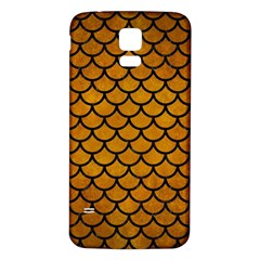 Scales1 Black Marble & Yellow Grunge Samsung Galaxy S5 Back Case (white)