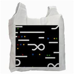 Line Circle Triangle Polka Sign Recycle Bag (two Side)