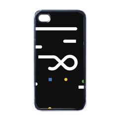 Line Circle Triangle Polka Sign Apple Iphone 4 Case (black)