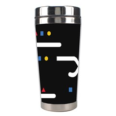 Line Circle Triangle Polka Sign Stainless Steel Travel Tumblers