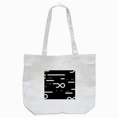 Line Circle Triangle Polka Sign Tote Bag (white)