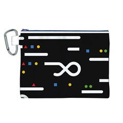 Line Circle Triangle Polka Sign Canvas Cosmetic Bag (l)