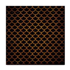 Scales1 Black Marble & Yellow Grunge (r) Tile Coasters