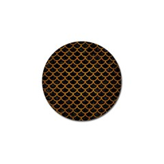 Scales1 Black Marble & Yellow Grunge (r) Golf Ball Marker (4 Pack)