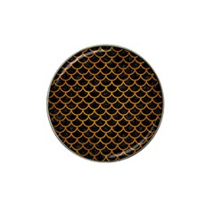 Scales1 Black Marble & Yellow Grunge (r) Hat Clip Ball Marker (10 Pack)