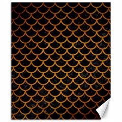 Scales1 Black Marble & Yellow Grunge (r) Canvas 20  X 24