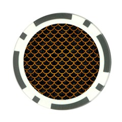 Scales1 Black Marble & Yellow Grunge (r) Poker Chip Card Guard