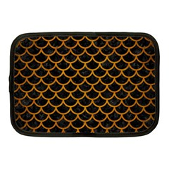 Scales1 Black Marble & Yellow Grunge (r) Netbook Case (medium)
