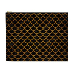 Scales1 Black Marble & Yellow Grunge (r) Cosmetic Bag (xl)