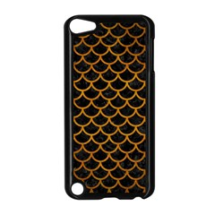 Scales1 Black Marble & Yellow Grunge (r) Apple Ipod Touch 5 Case (black)