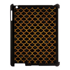 Scales1 Black Marble & Yellow Grunge (r) Apple Ipad 3/4 Case (black)