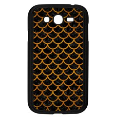 Scales1 Black Marble & Yellow Grunge (r) Samsung Galaxy Grand Duos I9082 Case (black)
