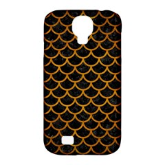 Scales1 Black Marble & Yellow Grunge (r) Samsung Galaxy S4 Classic Hardshell Case (pc+silicone)