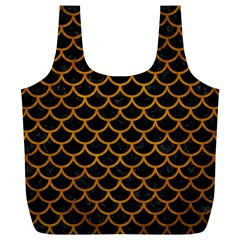 Scales1 Black Marble & Yellow Grunge (r) Full Print Recycle Bags (l)