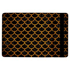 Scales1 Black Marble & Yellow Grunge (r) Ipad Air Flip