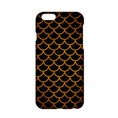 Scales1 Black Marble & Yellow Grunge (r) Apple Iphone 6/6s Hardshell Case