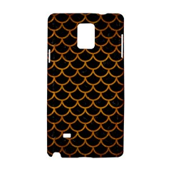 Scales1 Black Marble & Yellow Grunge (r) Samsung Galaxy Note 4 Hardshell Case