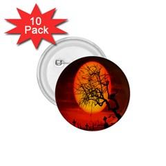 Helloween Midnight Graveyard Silhouette 1 75  Buttons (10 Pack)