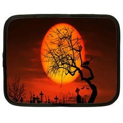 Helloween Midnight Graveyard Silhouette Netbook Case (large)