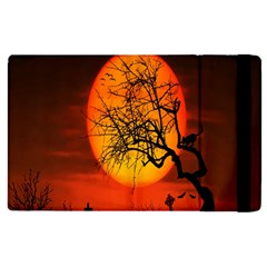 Helloween Midnight Graveyard Silhouette Apple Ipad 2 Flip Case