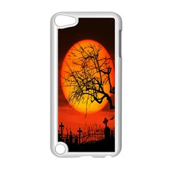 Helloween Midnight Graveyard Silhouette Apple Ipod Touch 5 Case (white)