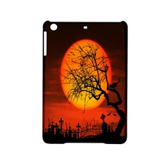Helloween Midnight Graveyard Silhouette Ipad Mini 2 Hardshell Cases