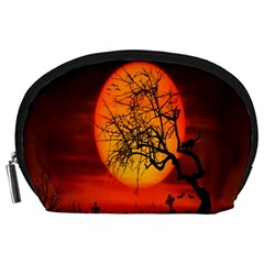 Helloween Midnight Graveyard Silhouette Accessory Pouches (large)