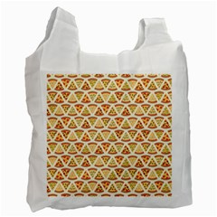 Food Pizza Bread Pasta Triangle Recycle Bag (two Side)
